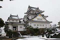 雪化粧の岸和田城