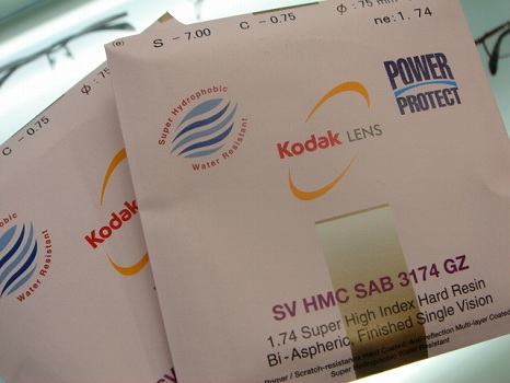 Kodak 1.74両面非球面パワープロテクト