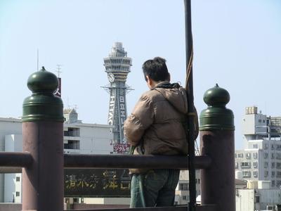 清水寺の舞台からの通天閣