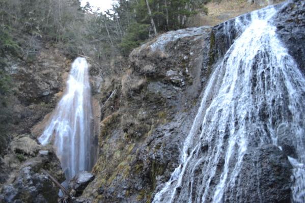 三本滝(左、中)