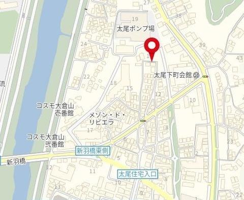 地図 大倉山 5棟