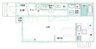 16号地間取り1階