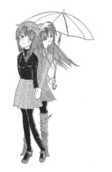 青子・有珠/ボールペン画/100613