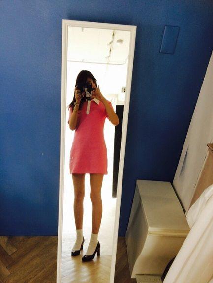【エンタメ画像】美脚すぎる!山本美月(23)がドラえもんの「しずかちゃん」ファッションに挑戦…ブログで披露