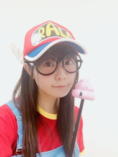 声優・竹達彩奈さん(28)のアラレちゃんのコスプレ