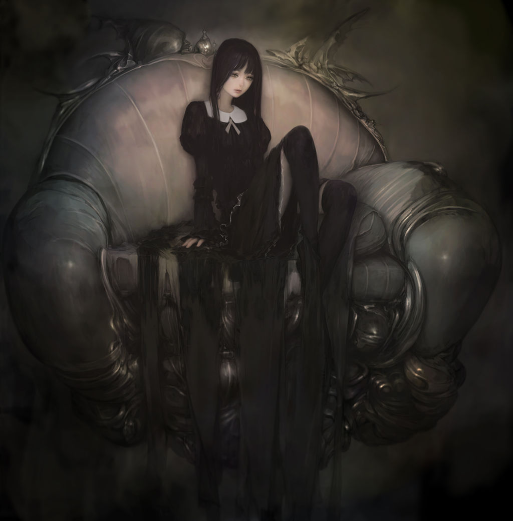 二次元の女の子が黒タイツ履いてるエッロイ画像 02