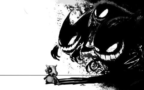ポケモンカラカラの黒い影