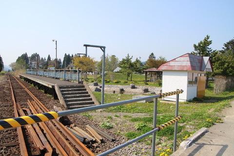 旧渡島鶴岡駅ホーム