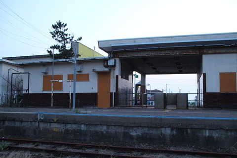 旧江差駅ホーム
