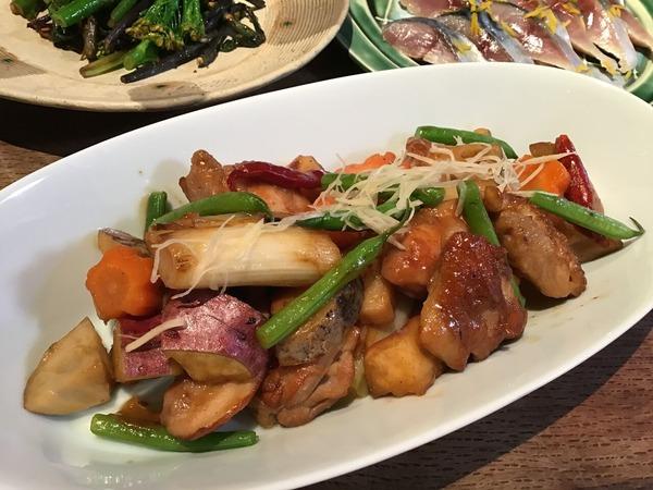◆3/19鶏と根菜の酢煮