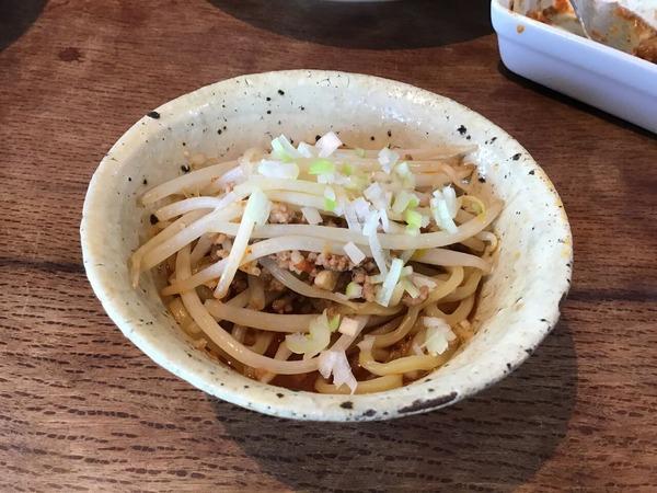 ●1/17坦々麺 野菜