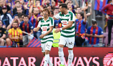 【動画】乾貴士がバルセロナから2ゴール!