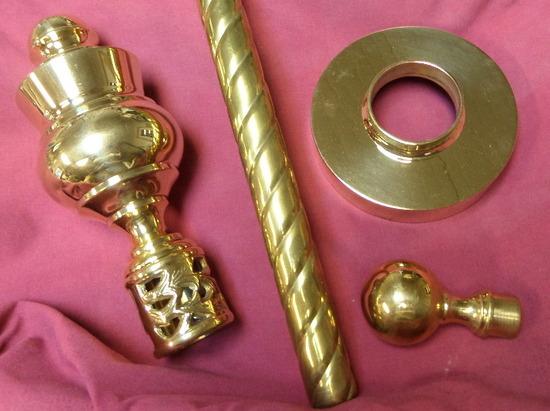 Brass twist pole