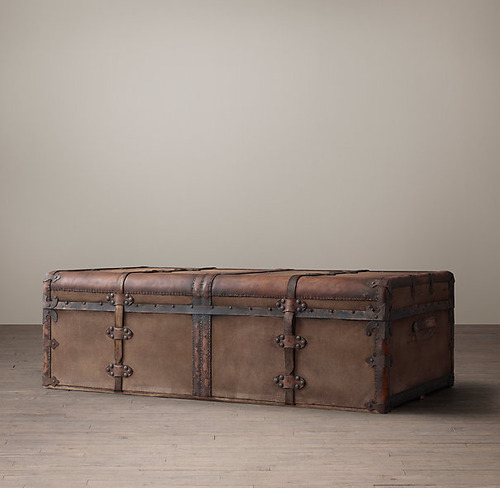 French Steamer Trunk Coffee Table_2