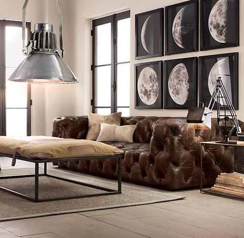Soho Tufted Leather Sofa_Burnham Cognac