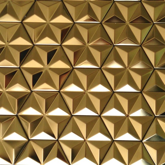 hexagon mosaic tile gold