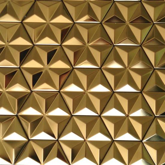 hexagon mosaic tile gold