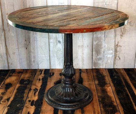 Reclaimed bistro table