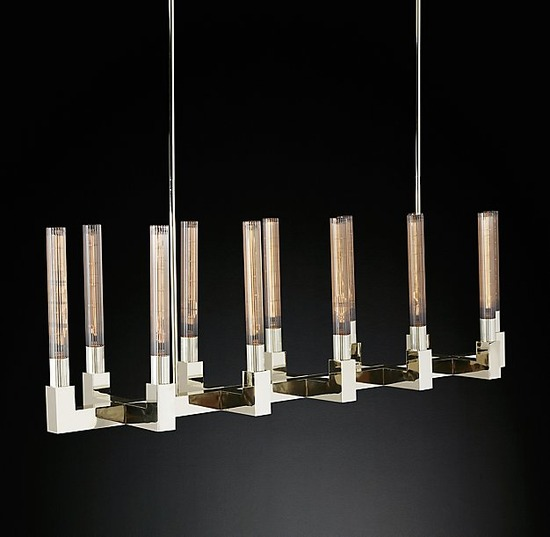 Cannele Linear Chandelier_Polished Nickel_3