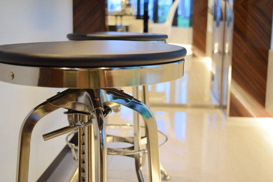 Vintage Toledo Barstool_Black & Polished Chrome_9