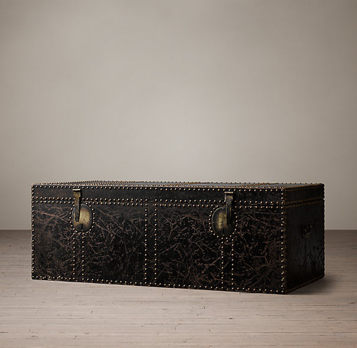 Leather Carriage TrunkCoffee Table_1