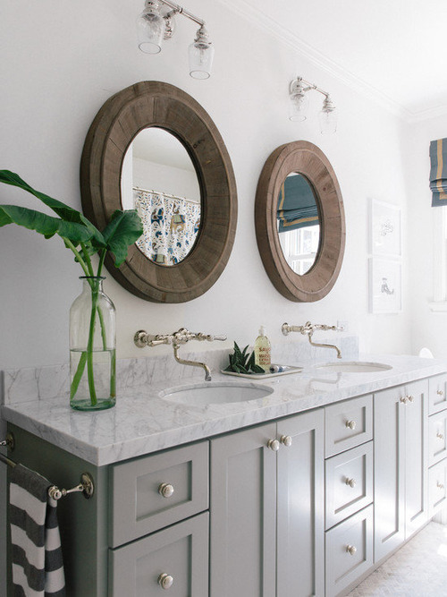 Salvaged Oval Pieced Mirror - Natural_1