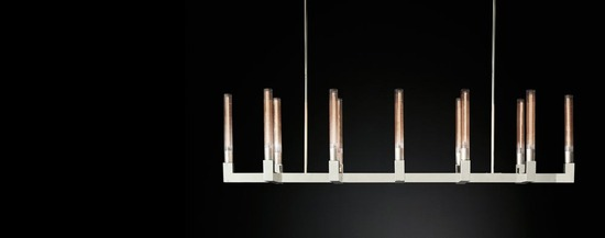 Cannele Linear Chandelier_Polished Nickel