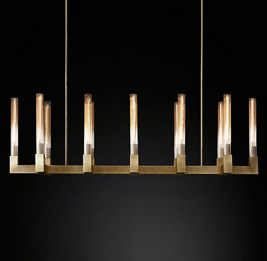 Cannele Linear Chandelier_Burnished Bras_54