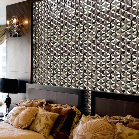 hexagon mosaic tile silver_5