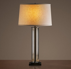 French Column Glass Table Lamp_Bronze_H788mm