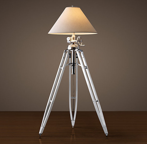 Royal Marine Tripod Floor Lamp_Polished Aluminum