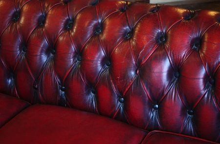 Red leather Chesterfield sofa_1
