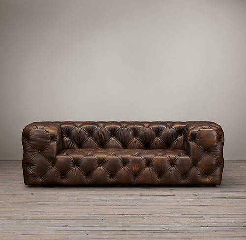 Soho Tufted Leather Sofa_Burnham Cognac_2