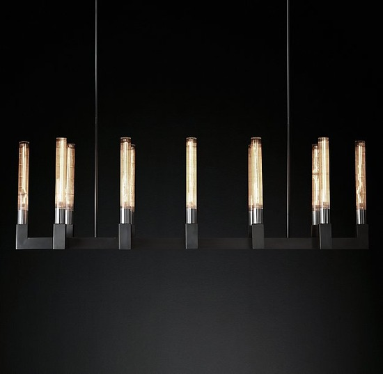 Cannele Linear Chandelier_Bronze_2