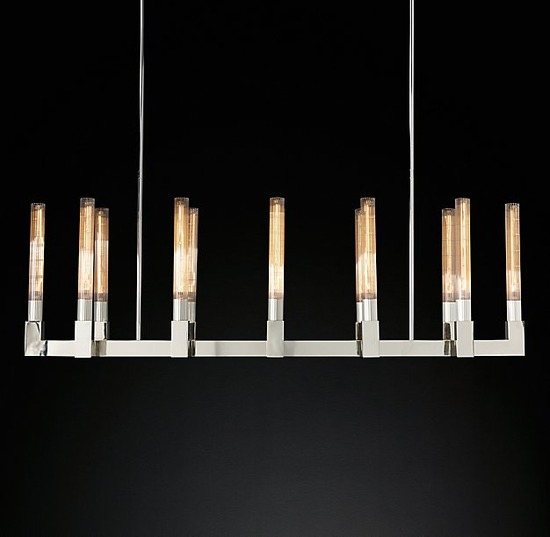 Cannele Linear Chandelier_Polished Nickel_2
