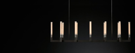Cannele Linear Chandelier_Bronze