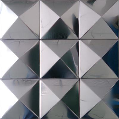 pyramid mosaics tile silver