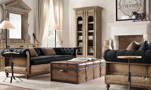 French Steamer Trunk Coffee Table_1_1