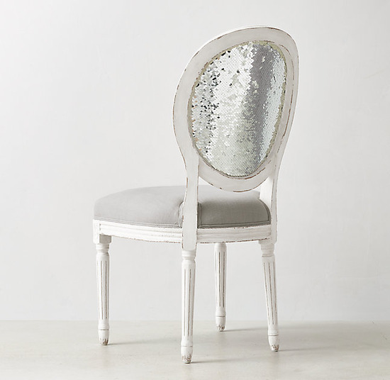 Vintage French Sequin Desk Chair_Belgian Linen Dove_1