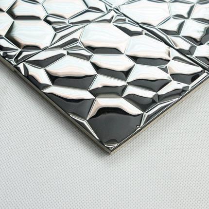 bubble mosaic tile_silver_3