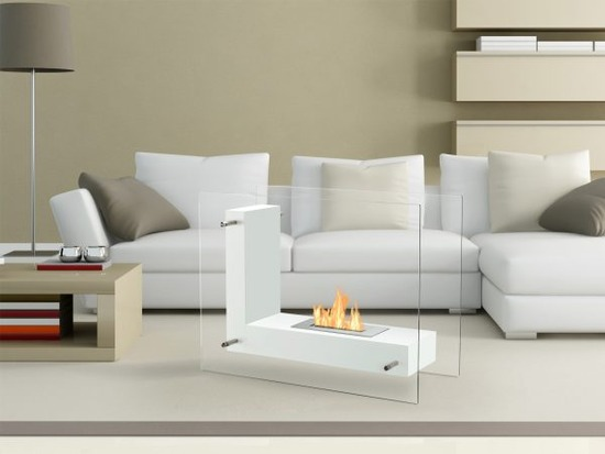 Vitrum-L-White-Freestanding-Ethanol-Fireplace-in-a-Room-600x450