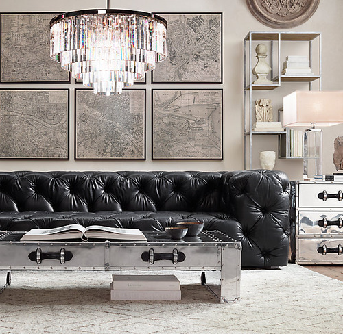 Soho Tufted Leather Sofa_Italian Berkshire Ebony