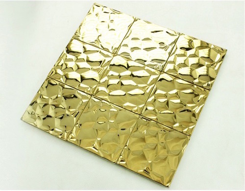 bubble mosaic tile_gold_3