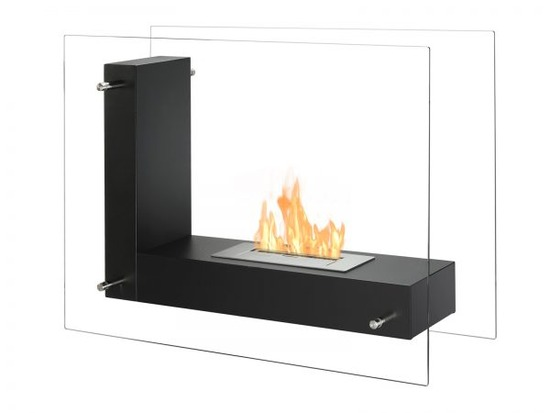 Vitrum-L-Black-Freestanding-Ethanol-Fireplace-600x450