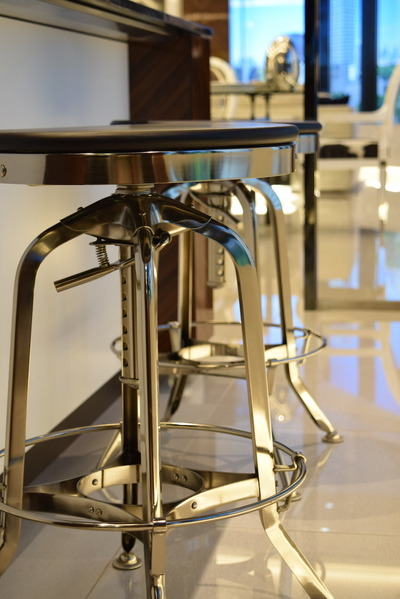 Vintage Toledo Barstool_Black & Polished Chrome_11