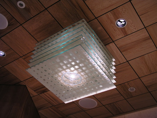 Washi Laminated Glass Chandelier