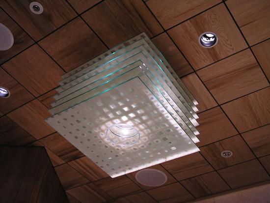 Washi Laminated Glass Chandelier