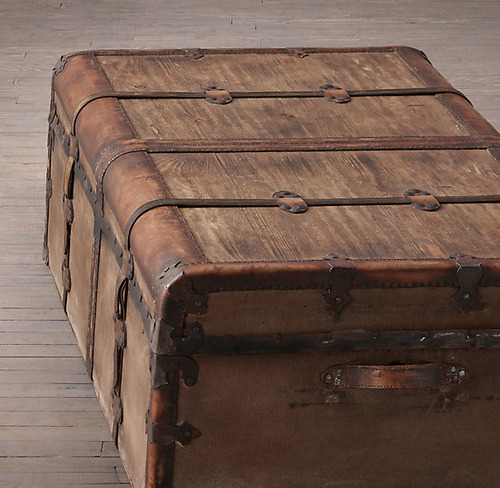 French Steamer Trunk Coffee Table_3