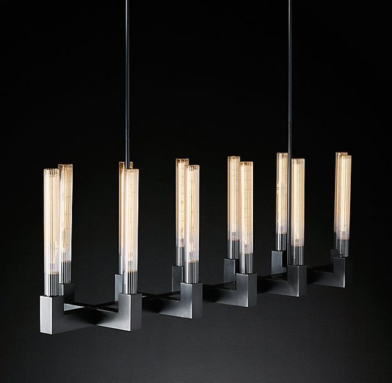 Cannele Linear Chandelier_Bronze_3