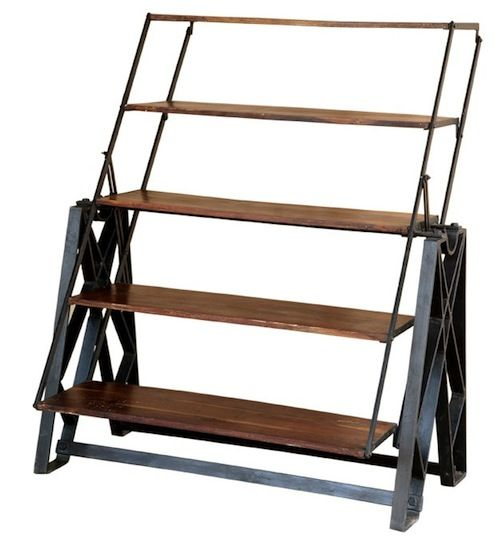 Adjustable industrial shelving unit